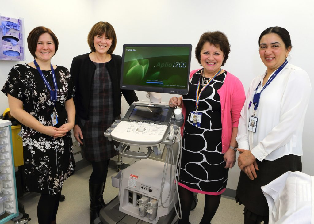 Diane Lennox (Consultant Radiologist), Tracey Bellas (Canon), Merilyn Cockburn (Consultant Radiologist), Nidhi Sibal (Consultant Radiologist)